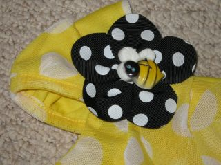 "New ""Polka Dot Bee"" Ruffle Shorts Girl Clothes 6 9M Spring Summer Boutique Baby"