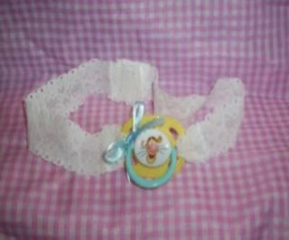 Custom Made Adult Sissy Baby Strap on Time Out Pacifier Blue Disney Fun for Play