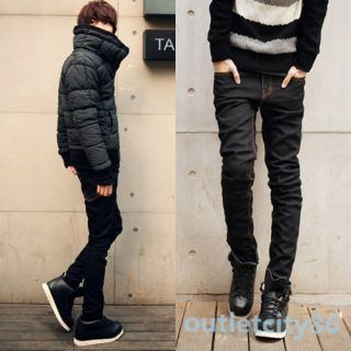 Multi Size Mens Fashion Luxury Skinny Pencil Stretch Jeans Long Pants Trousers