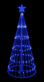 6' Blue LED Light Show Cone Christmas Tree Lighted Yard Art Decoration