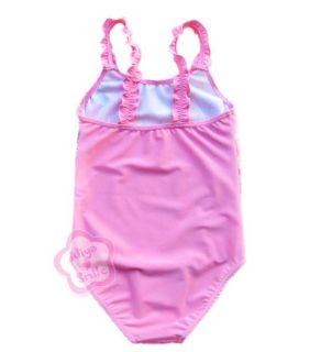 1pc Princess Baby Girl Swimsuit Pink Toddler Kid Swimwear Bathing Suit Sz 2T 6