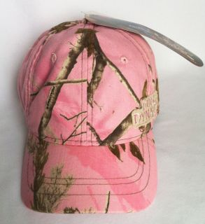 Duck Dynasty Womens Pink Camo Realtree APC Cap Hat Cute New