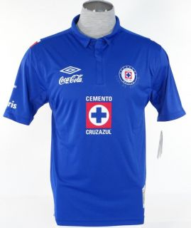 Umbro Cruz Azul Blue Short Sleeve Football Soccer Jersey Mens