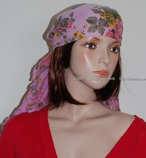 1 Cotton Wrap Headwrap Chemo Turban Triangle Head Scarf
