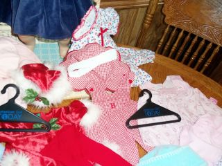 American Girl Bitty Baby Doll Big Lot EXTRAS Clothing Suitcase Outfits Clothes