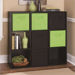Ameriwood 9 Cube Storage in Black Ebony Ash   7642026P