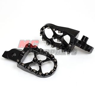 Black Billet CNC Alu MX Bike Footpeg for Suzuki RMZ 250 07 09 2007 2008 2009