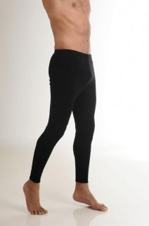 Hasyun Mens 65 Merino Wool Blend Long Johns Thermal Underwear Black