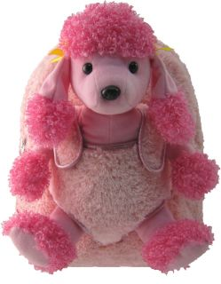 Kreative Kids Soft Plush Pink Backpack Pink Poodle Buddy for Little Ones