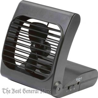 "Small 7"" Battery Powered Portable Personal Folding Ultra Quite Fan 2 Speeds"