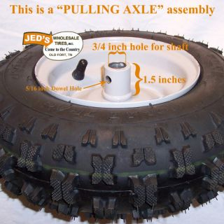 4 10 6 4 10 3 50 6 Snow Blower Thrower Tire Rim Wheel Assembly Kenda Polar Trac