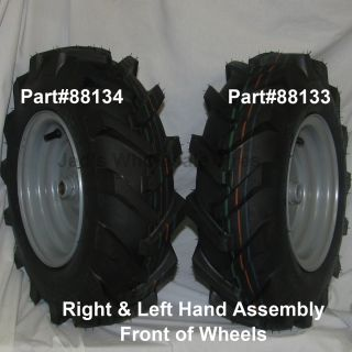 2 480 8 4 80 4 00 8 Garden Tiller Tire Rim Wheel Assemblies 88133 88134 4ply