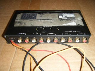 Hitron HEQ 4Q 4 Band Parametric Equalizer w Subwoofer Crossover Car Stereo EQ