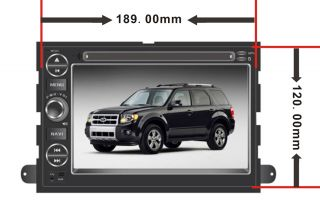 Car GPS Navigation Radio HD Touch Screen TV DVD Player for 2005 09 Ford Mustang