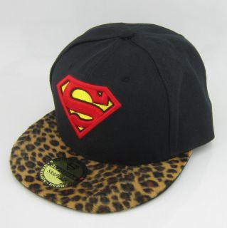 Leopard New Superman Hiphop Cosplay Snapback Adjustable Baseball Cap Flat Hat