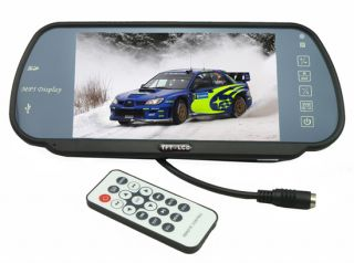 """7"""" TFT LCD Car Rear View Mirror Monitor Touch Color Screen MP3 MP4 MP5"""