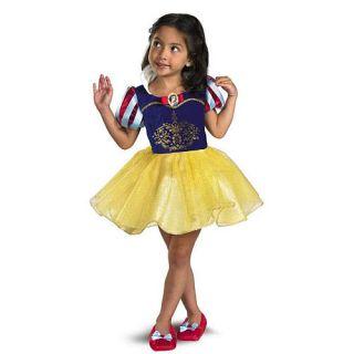 New Disney Princess Snow White Ballerina Costume w Shoe Cover Toddler Size 2T