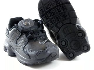 New Nike Shox NZ 2 0 Toddler TD Black White Velcro Fit Little Kids Baby Shoes