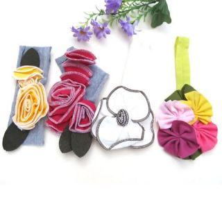 Cute Baby Girl Infant Toddler Cotton Flower Headband Headwear Soft Hair Band