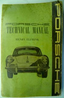 Porsche 356 Technical Manual Service Manual Shop Elfrink Original not Reprint VG