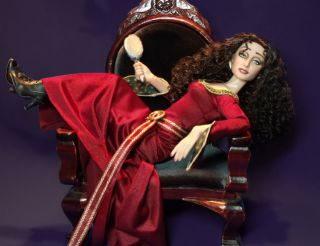 OOAK Mother Gothel Tonner Doll Repaint Tangled Rapunzel Unauthorized Disney Art