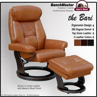 Pleasing Benchmaster Sienna Leather Recliner Chair Ottoman Pabps2019 Chair Design Images Pabps2019Com