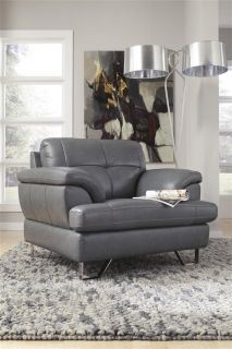 Natuzzi leather sectional chaise on popscreen for Ashley encore grain chaise