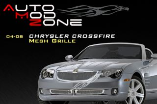 04 08 07 06 Chrysler Crossfire Mesh Grille Grill Combo