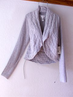 New Valerie Bertinelli Gray Grey Cardigan Sweater Jacket Top Coat 16 18 14 XL