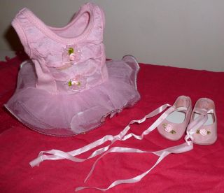"Fits 18"" Doll Clothes Like Isabelle Pink Ballet Dance Shoes Outfit Set 2 PC"