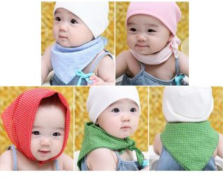 5pcs Baby Kid Toddler Bandana Bibs Saliva Towel Dribble Triangle Head Scarf