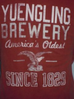 Yeungling Brewery America's Oldest Since 1829 Vintage Look Beer T Shirt XXL