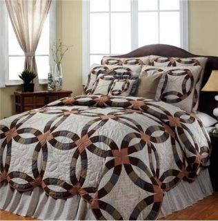 Harvest Ring King Bedding Set Quilt Shams Bedskirt 4pc