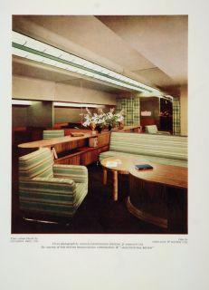 1935 Living Room Chair Modern Interior Design Print Original