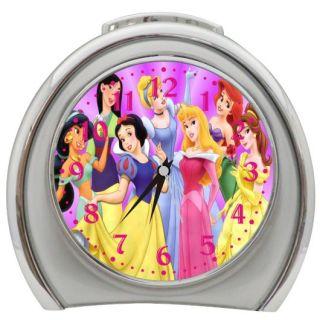 New Disney Princesses Night Light Travel Table Desk Alarm Clock