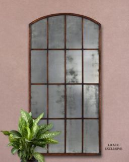 Large Tuscan Metal Wall Mirror Leaning Floor Mirror