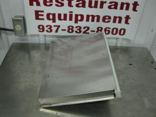 Edlund Stainless Steel Side Mount Knife Rack Holder w White Insert