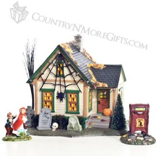 The Spider House Are You Afraid of Big Bad Wolf Department 56 Halloween Dept