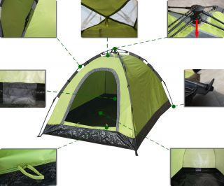 New 2 Person 7' 4' Outdoor Camping Instant Tent Waterproof One Layer One Door