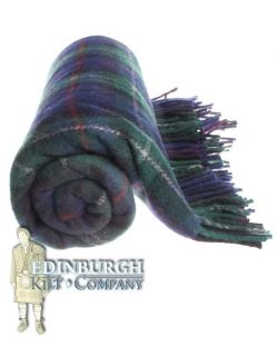 Highland Scottish 100 Wool Tartan Rug Blanket Mackenzie