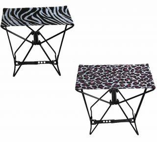 Chair to Go Amazing Folding Pocket Chair Cheetah or Zebra Print