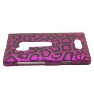 Purple Leopard Case for Nokia Lumia 928 Cell Phone Hard Skin Cover