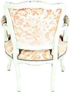 4 french country blue roosters floral scroll kitchen chair