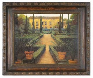 Garden Manor Wall Art Oil Painting Rustic Tuscan Home Decor French 46 x 39