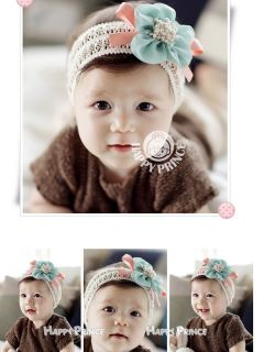 New Children Kids Newborn Baby Girls Flower Headband Headwear Hair Band Soft Hot