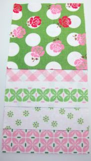 "Riley Blake Fabric Designer Rag Quilt Kit 84 6"" Squares Sew Cherry DIY"