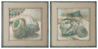 Framed Wall Art Oil Painting Coastal Gems s 2 Pictures Home Decor Large New