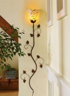 New Flower Petal Bloom Metal Wall Lamp Home Decor Antique Leaf Art Chic Floral