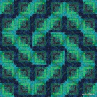 36 Block Log Cabin Quilt Kit Pacific Nights 36 Batik Fabric Pre Cut