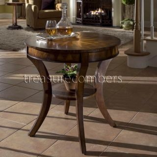 """Round Accent End Table Side Furniture Star Design Top 30"""" H x 28"""" Diameter New"""